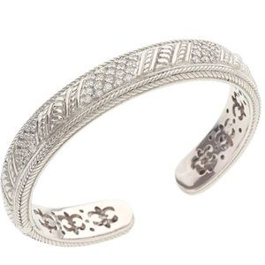 Judith Ripka, Sterling Silver Bangle Cuff Bracelet